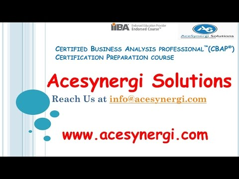 Business analysis Course :CBAP Certification Training