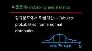 확률통계 39 정규분포에서 확률계산-probabilit…