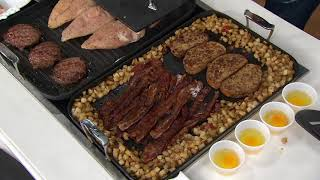 "All-Clad Hard-Anodized 13""x 20"" Grill or Griddle with Bonus Press on QVC"