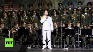 Ансамбль Александрова исполнил гимн «Вежливые люди» в «Лужниках»