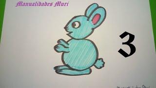 Manualidades. Aprende a dibujar con números: Conejo con el 3