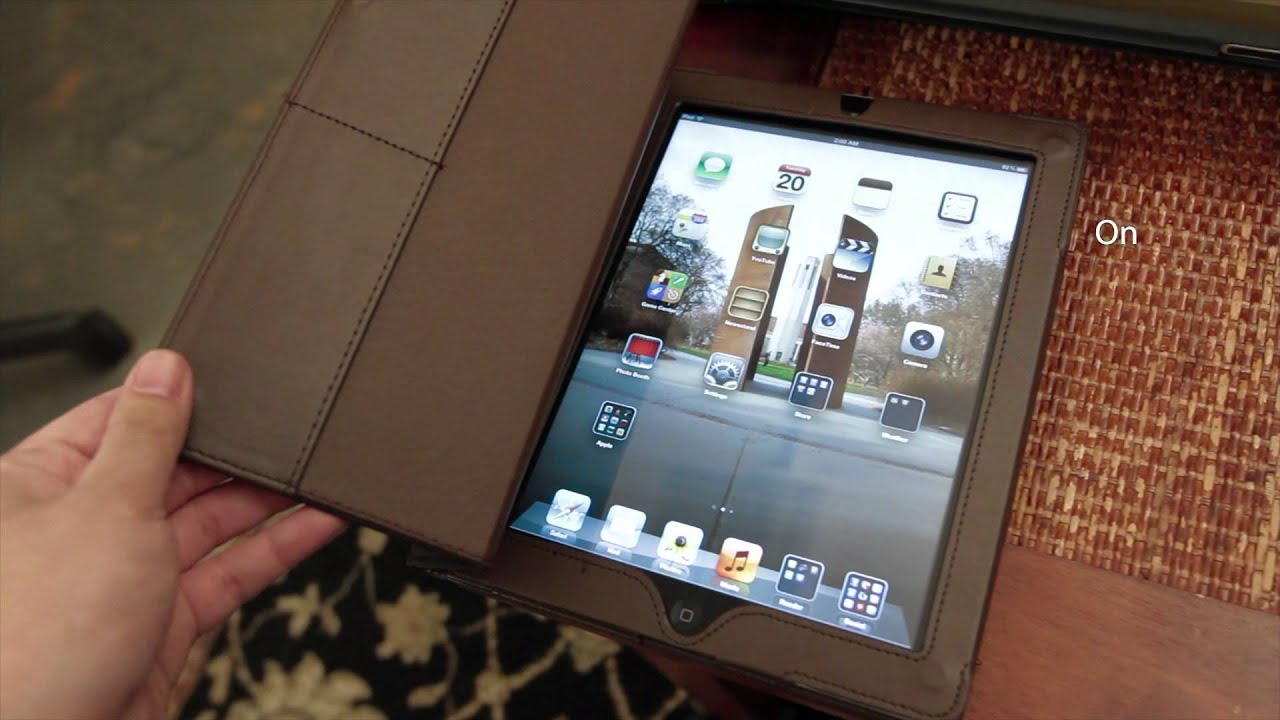 DIY iPad 3 Case On/Off Magnet Switch in Action - YouTube