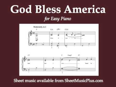 Invaluable image inside free printable god bless america sheet music
