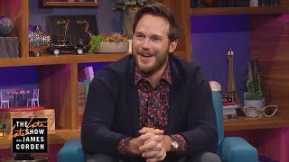 Chris Pratt Has Eyes for the Big Chair