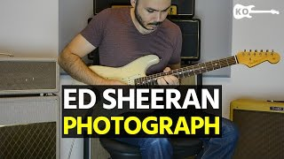 Ed Sheeran - Photograph - Electric Guitar Cover by Kfir Ochaion