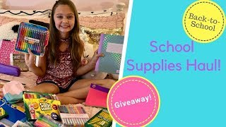Back to School Supplies Haul & Give-Away