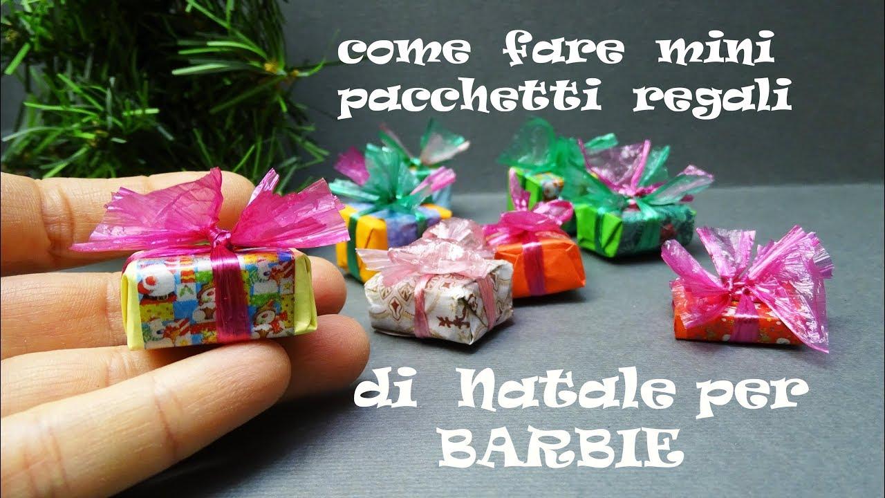 Come Fare Pacchetti Natalizi tutorial: pacchetti di regali sotto l'albero in miniatura /natale per  barbie/ usando un giornale