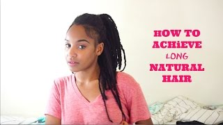 Growing long 4c natural hair to breast length.