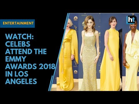 Watch: Celebs attend the Emmy Awards 2018 in Los Angeles