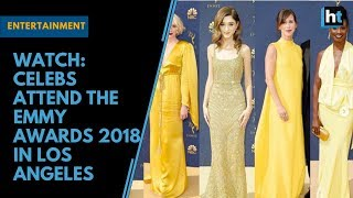 Watch: Celebs attend the Emmy Awards 2018 in Los Angeles thumbnail