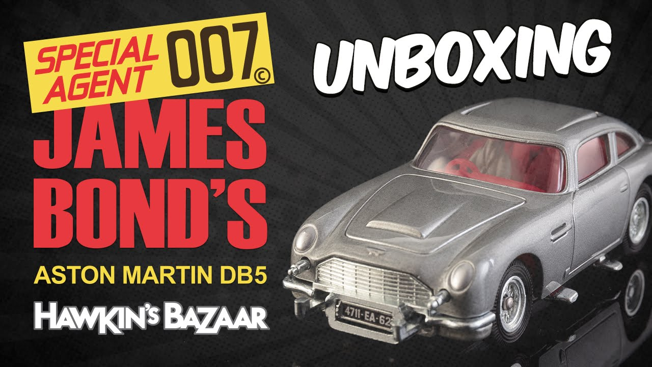 corgi james bond 50th anniversary aston martin db5 unboxing - youtube