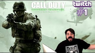 Game Rating Review TWITCH Stream: COD Modern Warfare Remastered #1 with Nick & David  (03/20/19)