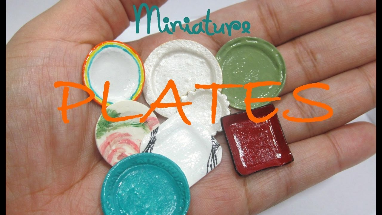 diy easy plates from polymer clay dollhouse miniature - youtube