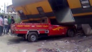 حادث قطار شبين القناطر shibin al Qanatir al Qalyubiyah egypt