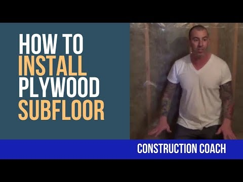 How to Install Plywood Subfloor - DIY for tiling