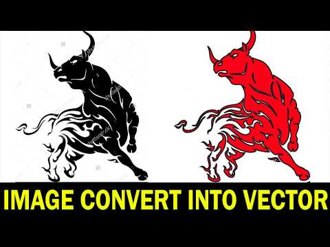 Adobe Illustrator Convert Any image into Vector Shapes