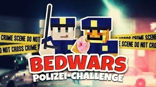 DIE POLIZEI-CHALLENGE ★ Minecraft: BEDWARS | Herr Bergmann