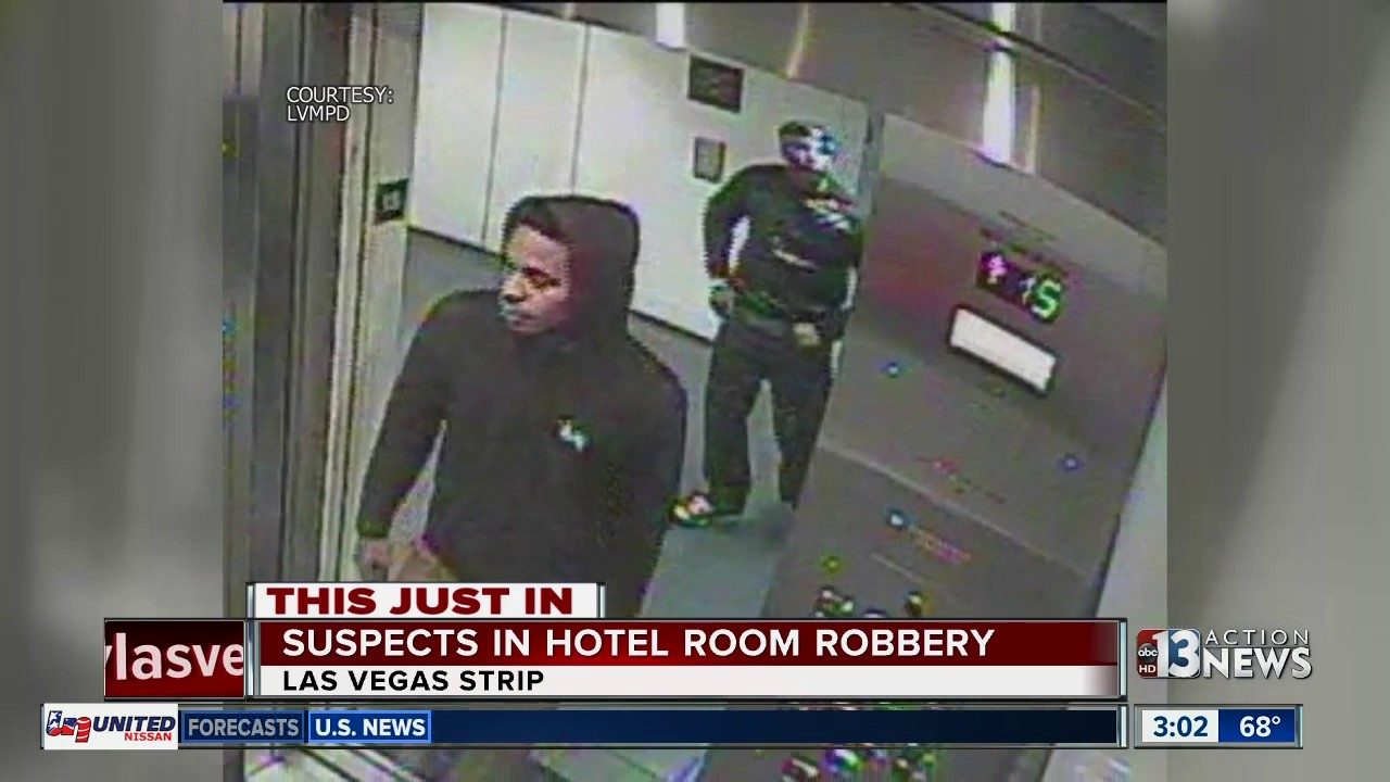 Las Vegas Police Looking For Suspects In Strip Hotel Room Robbery