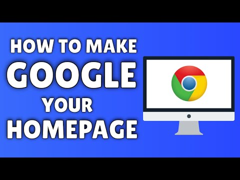 how to assign a homepage in google chrome