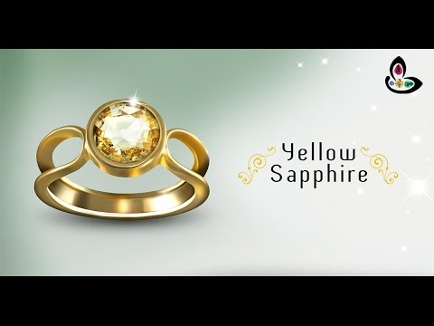 Natural Ceylon Yellow Sapphire Ring in Gold