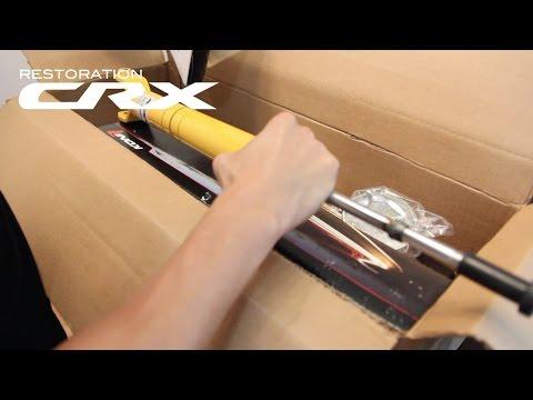 Koni Yellow Sport Shock Unboxing   88-91 Honda CRX Si