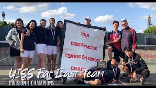 YISS Varsity Tennis Far East at Okinawa, Japan 2019-20
