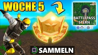 WEEK 5 ⭐ SECRET Battle Pass Star | Fortnite Season 10 German