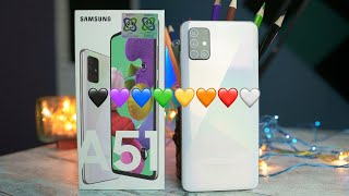 Samsung Galaxy A51 Prism Crush White Unboxing | Camera Samples | First Impressions | English 4K
