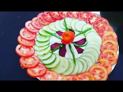 very easy salad decoration ideas by Neelam ki recipes ...