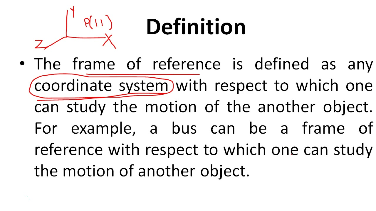Relativity and frames of reference - YouTube