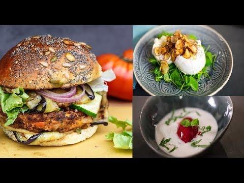Beste Burger vegan und 2 Gesunde Rezepte von lecker aus ♛ Tarik Rose ♥ 2017  HD