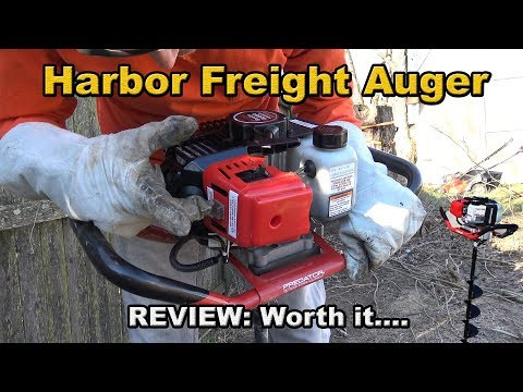 Harbor Freight Auger Review PREDATOR