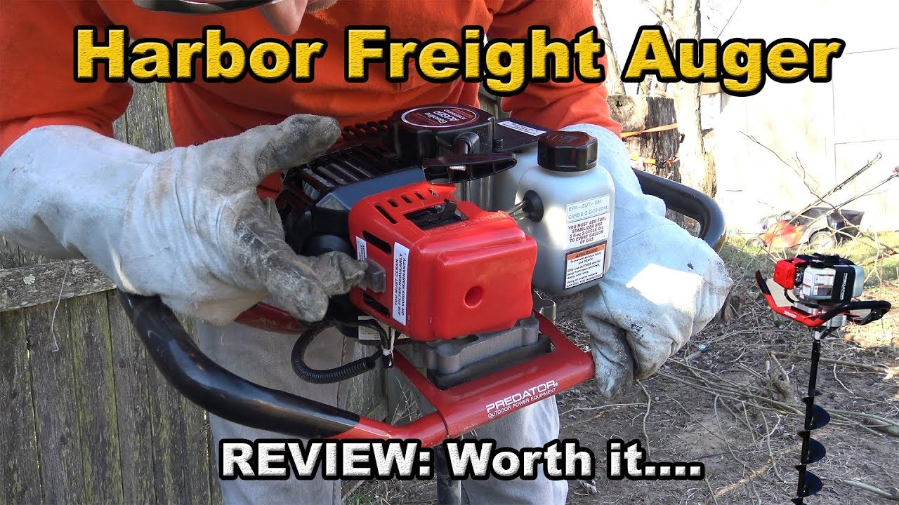 Harbor Freight Auger Review Predator Youtube