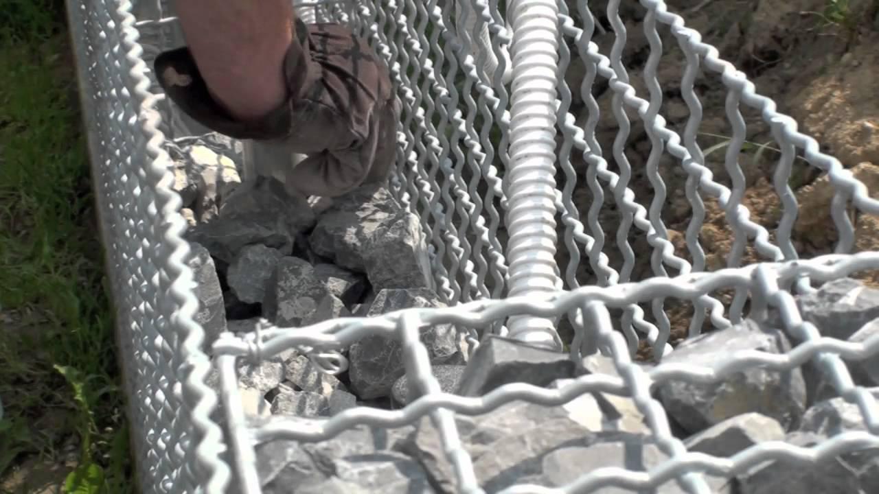 Gabionen-Ograda od pletene žice i kamena - YouTube