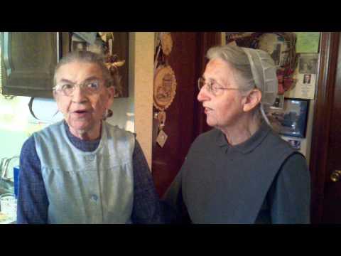 My 97 & 93 year old Mennonite Aunts singing