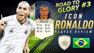 fIFA 18 ICON 96 RONALDO PLAYER REVIEW - EL FENOMENO - FIFA 18 ROAD TO GLORY #3