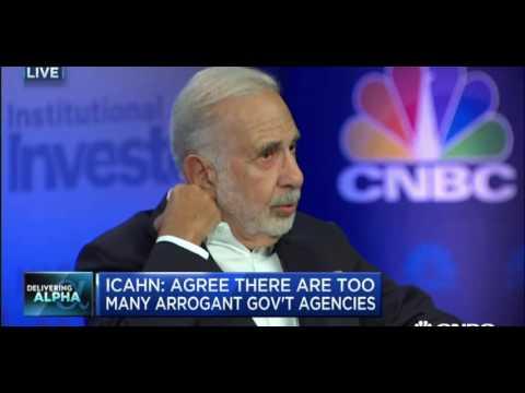 Carl Icahn Interview About Economy & Battle w/ Bill Ackman