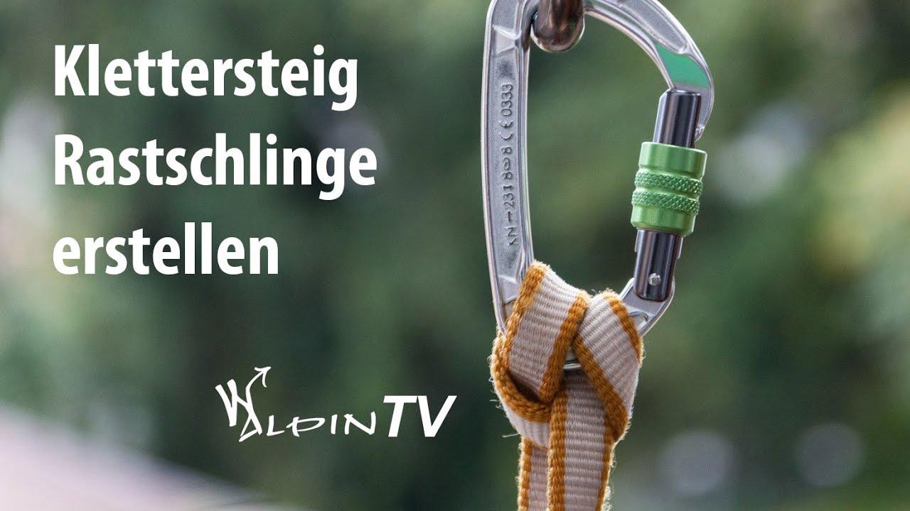 Klettersteig Bandschlinge : Walpin tv klettersteig rastschlinge erstellen youtube