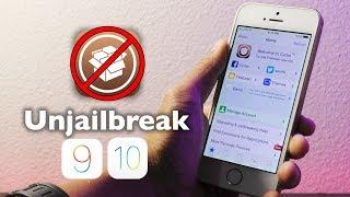 How to Unjailbreak iOS 9 / 10 NO computer, NO updating