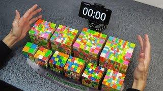 СОБРАЛ 10 САМЫХ РАЗНЫХ КУБИКОВ РУБИКА  2х2 - 11х11 | самая сложная головоломка