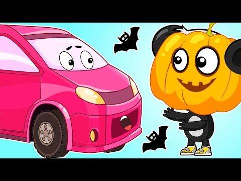 Мультики Для Детей - Машинки и Хэллоуин - Развивающий Мультфильм