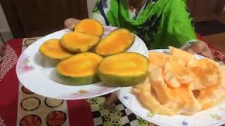 Eating show|| Mango with Muskmelon