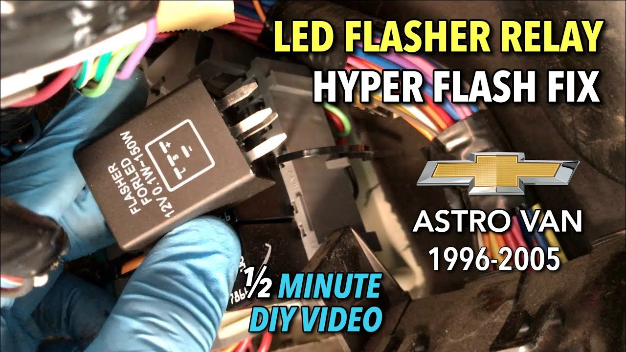 Astro Van Turn Signal Led Flasher Relay To Fix Hyper Flash
