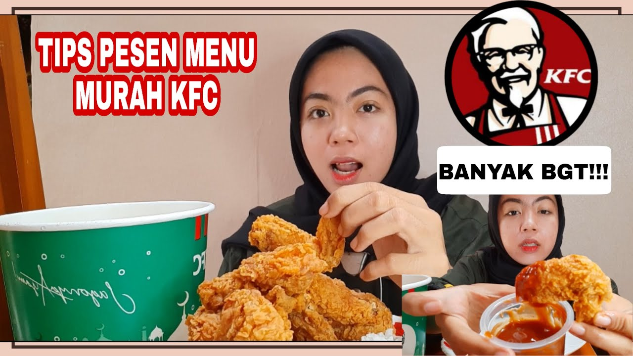 REVIEW KFC WINGER BUCKET 14 AYAM CUMA 50RBAN| MUKBANG ...