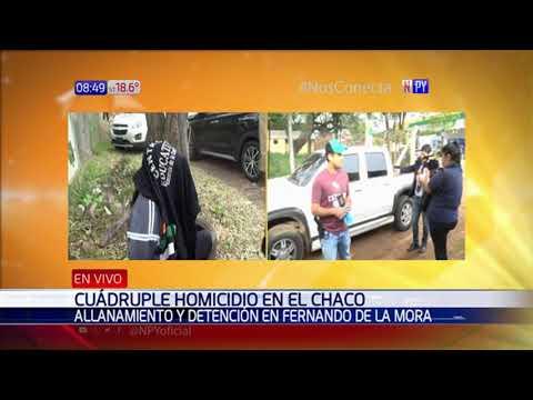 Tres detenidos por cuádruple crimen en el Chaco