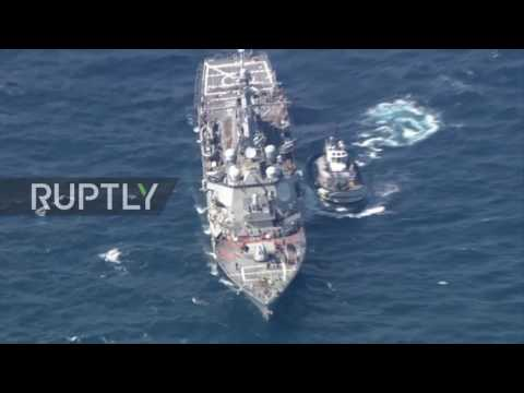 Japan: Rescue op underway to find 7 missing US Navy sailors following collision