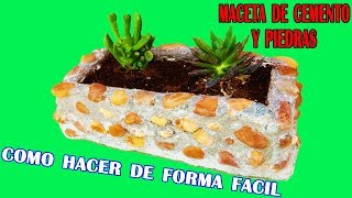 HOW TO EASILY MAKE A CEMENT AND STONE MACLET