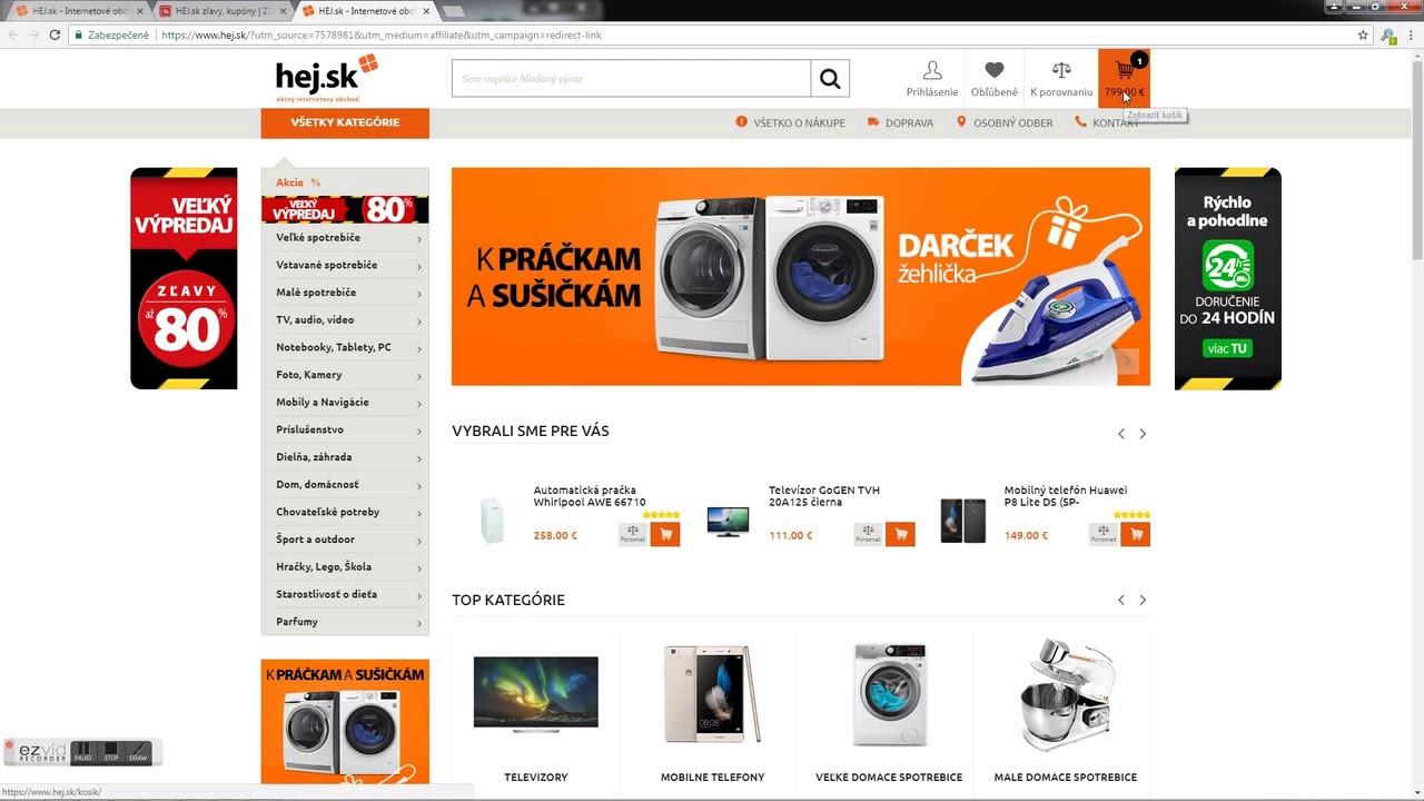 0d7dbe593 HEJ.sk zľavové kupóny, kódy 2019 (27x) | Z Ľ A V A -200€ | Pozri !!