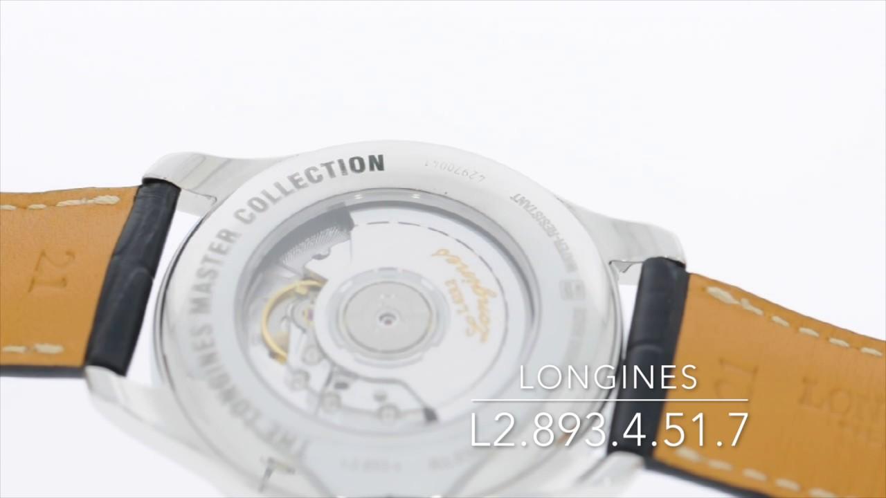 Longines L2.893.4.51.7 - YouTube bb69a54f94