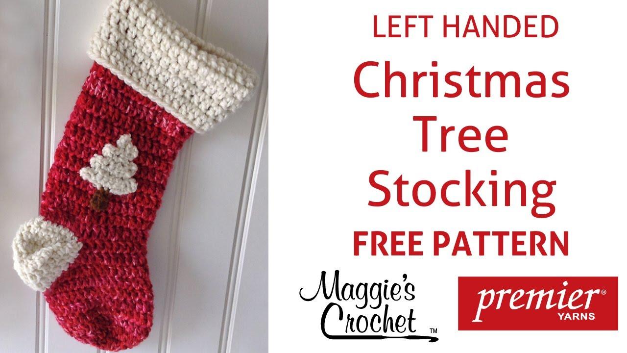 Crochet Patterns For Left Handers : Christmas Stocking Free Crochet Pattern - Left Handed ...